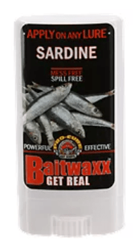 Baitwaxx uses the stability of wax to adhere your attractant to your bait.