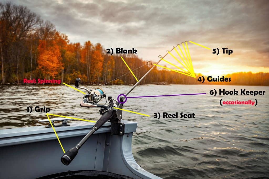 There are 6 fishing rod components we will discuss today