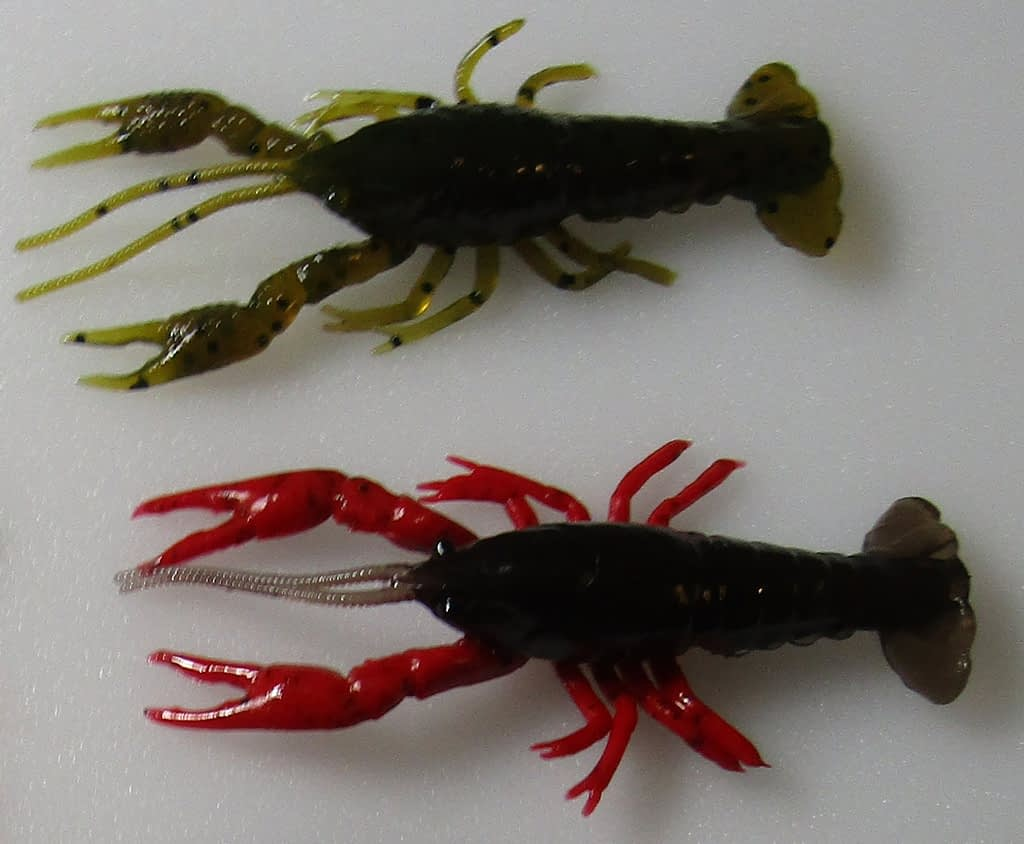 Craws, like tubes, are fairly sturdy. The plastic will still move in the water to give a life-like presentation, but the motion will be stiffer...like shelled creatures.
