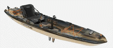 The Pelican Catch 130 is another popular fishing kayak among pedal drive anglers