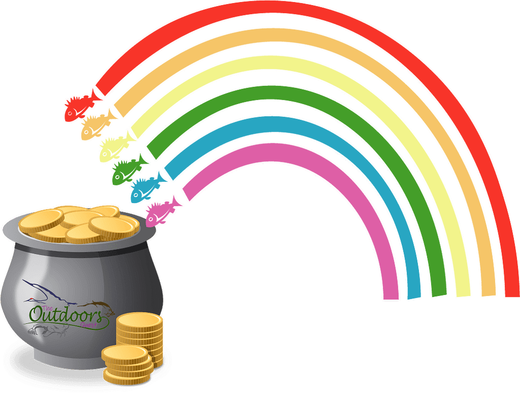 You'll find the pot at the end of your rainbow when you think outside the box and allow yourself to be flexible when fishing