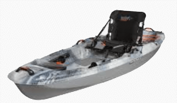 The Pelican Catch 100 is a common choice for newer kayak anglers looking for a reasonably priced, reliable fishing kayak