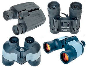 There are several brands and grades of binoculars. You won't have trouble finding a pair that work well for you in whatever price range you have available.