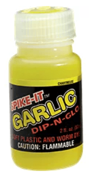 Spike-It dip can be dripped on to your lure or dip your lure into the bottle.