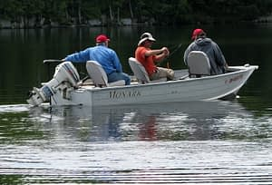 Boat fishing ranges from simple aluminum jon boats to elaborate bass boats and more
